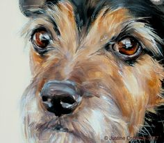 Terrier Portrait - oil painted on canvas by artist, Justine Osborne from  http://www.paintmydog.co.uk