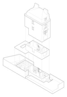 Dissection of an existing house - study for Lambeth Road