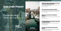 GraceUnderPressure ­| Responsive Theme Optimised for Touch by stylishthemes https://themeforest.net/item/graceunderpressure-responsive-theme-optimised-for-touch/12219266?ref=stylishthemes #blog #bloggingtheme #mobilefriendly #swipeoptimized #writerstheme #wordpress