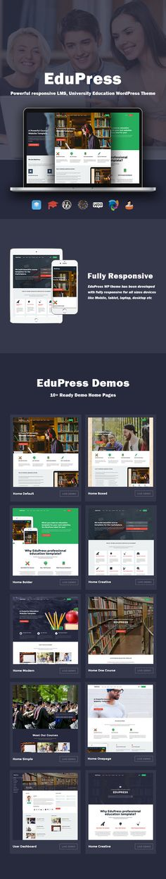 Download EduPress   Responsive LMS University Education WordPress Theme (Education)  The EduPress is a beautiful learning management system WordPress theme. This theme compatible with all mobile devices and modern browsers. EduPress suitable for learning management system sites English classes colleges online courses educational websites online learning sites LMS projects schools tutorial sites university sites and similar websites.  EduPress WordPress theme comes with 10 demo home pages 2…