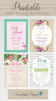 Baby shower invitations at affortable prices only on Serendipity Paperie