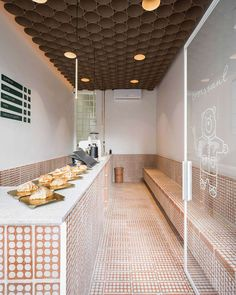 Bakery Interior, Cafe Interior Design, Modern Interior, Interior Architecture, Cafe Bistro, Cafe Bar, H Design, Store Design, Bakery Design