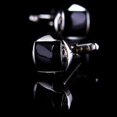 Black Onyx Centered Cufflinks