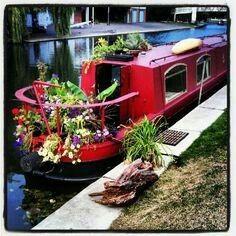 canal boat garden
