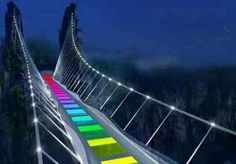 The world's highest and longest glass bridge is being built in China Glass Bridge, Zhangjiajie, All Over The World, Grand Canyon, The Incredibles, China, Make It Yourself, Building, Places
