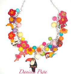 Tropicana necklace by Daniela Pupa #necklace #polymer clay