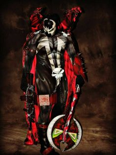 Spawn, cosplayed by Knightmage1, photographed by Gwen Graham