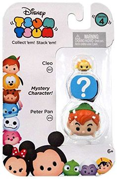 Disney Tsum Tsum Series 4 Cleo  Peter Pan 1 Minifigure 3Pack *** For more information, visit image link.