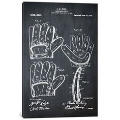 "East Urban Home 'C.M. King Baseball Glove' Graphic Art Print on Canvas Size: 18"" H x 12"" W x 0.75"" D"