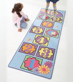 Hearthsong Hopscotch Nonskid Indoor/Outdoor Play Mat, 2015 Amazon Top Rated Puzzle Play Mats #Toy