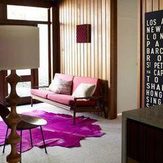 Sydney back room with hot pink rug