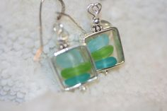 aqua+turquoise+genuine++lime+green+sea+glass+by+seaglassboutique,+$38.00