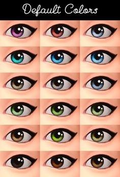 Elderflower Eyes by teanmoon• These eyes use the iris texture from Remi's edit of Leh's eyes, and some colors use shading from my recolors of Helianthea's Bland Comic Eyes. • The sclera of the eye...