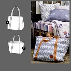 Stoff & Stil Bags 90235 - The Foldline Textiles, Dress Making Patterns, Dressmaking, Louis Vuitton Damier, Gym Bag, Purses, Freya, Patchwork Ideas, Diy Bags