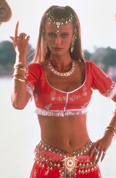 """Actress Kristina Wayborn is shown in a scene from the 1983 James Bond series film """"Octopussy"""" in this undated publicity photograph. Wayborn is one of the """"Bond Girls"""" women who have starred opposite the character of James Bond in the action film series."""