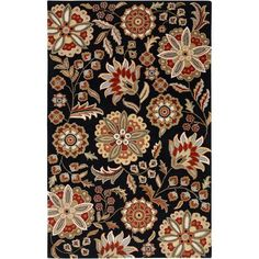 Athena Black and Red Rectangular: 2 Ft. x 4 Ft. Rug - (In Rectangular)