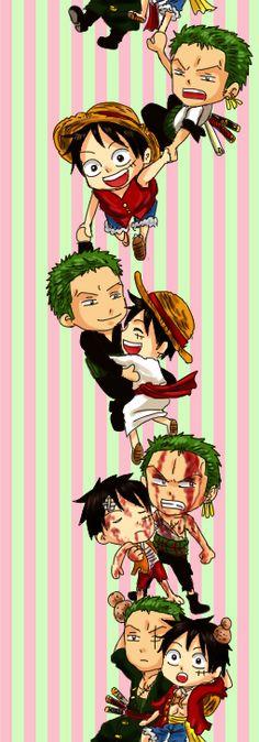 luffy & zoro - One Piece