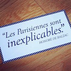 """Quote of the day: """"Parisian women are unexplainable."""" - Honoré de Balzac #qotd #mylittlebox #paris"""