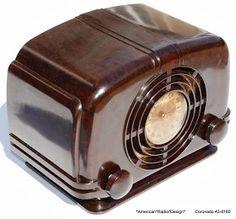 *American*Radio*Design* - - Deco-Mid Century, Retro Styled Vintage Tube Radios : CORONADO Art Deco Vintage Five Tube Radio Model 43-8160 Under chassis schematic photo (6273)