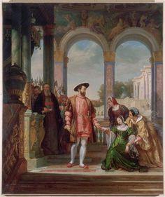 Diane de Poitiers implore la grâce de son père à François Ier Bitter (?-1832)