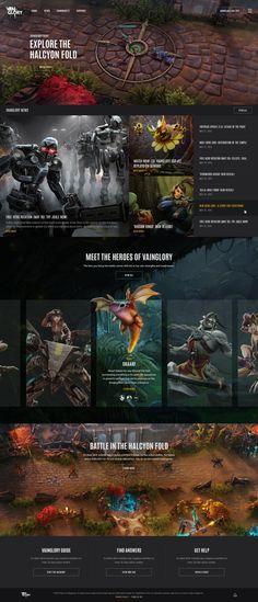 Vainglory desktop homepage