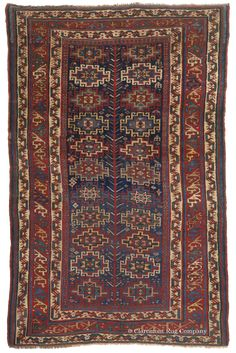 SHAHSAVAN, Northwest Persian 4ft 5in x 6ft 10in Circa 1900 http://www.claremontrug.com/antique-rugs-information/collecting/