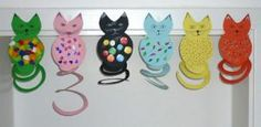 Craft ideas / crafts-themed Cat Ringtail - My CMS Fun Arts And Crafts, Diy Crafts For Kids, Fun Crafts, Paper Crafts, Craft Ideas, Circus Crafts, Educational Games For Kids, Cat Cards, Camping Crafts