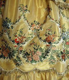 Embroidered dress detail | 1859 | Silk | The Metropolitan Museum of Art
