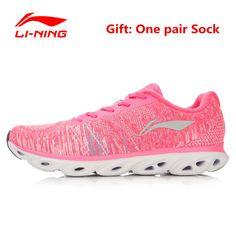 Li-Ning 2017 Women's Summer Running Shoes Lining Breathable Sneakers Woman's Cushioning Sports Gym Shoe Li Ning ARHL034 for Girl