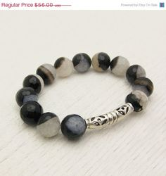 15  25 OFF One Size Crystal Agate Bead Bracelet with by byjodi, $47.60