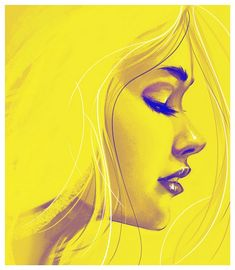 Girl face by John Suarez. I'm a sucker for profiles.