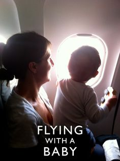 Tips for flying with a baby or toddler...