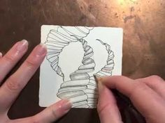Sam Taylor (Zentangle Eccentric) demonstrates how to draw her unique tangle pattern called 'Narwal.'