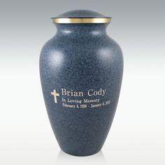Large Granite Earthtone Cremation Urn - Engravable