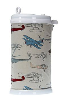 Glenna Jean Ubbi Diaper Pail Cover, Fly-By Airplane Print