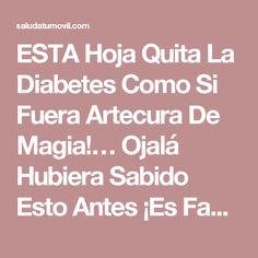ESTA Hoja Quita La Diabetes Como Si Fuera Artecura De Magia!… Ojalá Hubiera Sabido Esto Antes ¡Es Fantástico!