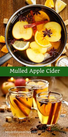 Mulled Apple Cider -  a wonderful hot beverage for a chilly day! blessedbeyondcrazy.com #mulledcider
