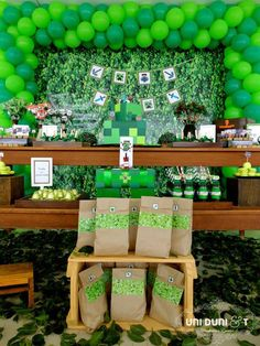 Minecraft themed birthday party via Kara's Party Ideas