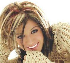 Dark Hair With Blonde Highlights   Dark Red Brown Hair With Blonde Highlights Pictures 1 - Free Download ...