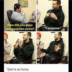 compose<I love how they both laugh a lot at everything