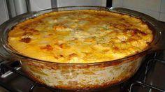 Gratinado de batata com presunto e queijo