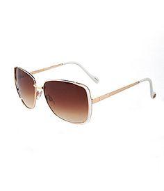 Jessica Simpson Glamour Metal Sunglasses #Dillards