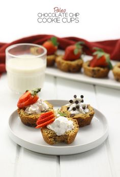 Paleo Chocolate Chip Cookie Cups + Healthy Valentine's Day Desserts!