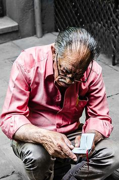 New Featured in MAKE MINE PINK Group on FAA! Fine Art Photography by Sotiris Fillippou - AN OLD MAN READING HIS BOOK #artprints #makeminepink