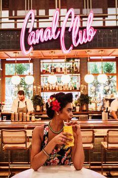 The Canal Club Hosts Cuban-Themed Summer Nights Cuban Cafe, Cuban Restaurant, Havanna Nights Party, Havana Bar, Divas Pop, Havana Nights, Cuba Travel, Night Aesthetic, Cafe Bar