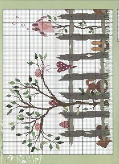 ru / Фото - 45 - Viki-Kitti (Pg 2 of Cross Stitch Tree, Cross Stitch Needles, Cross Stitch Heart, Cross Stitch Borders, Simple Cross Stitch, Cross Stitch Animals, Cross Stitch Flowers, Cross Stitch Designs, Cross Stitching
