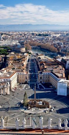 St Peters Square in Rome, Italy.