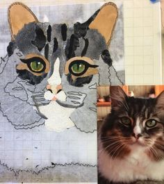 One of the cat portraits