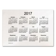 52 Week Calendar 2015 Business Cards | Holidays by Janz -- Pod ...