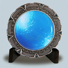 SOLD OUT Antique Silver Spacegate Space Gate Stargate Geocoin Geocaching